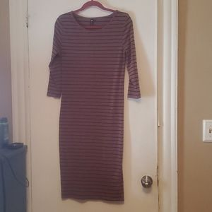 Striped Bodycon with sleeves